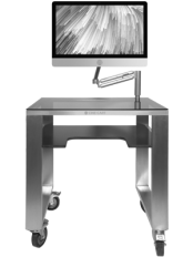 CUTOM MOBILE DESK WITH SUPPORT SCREEN